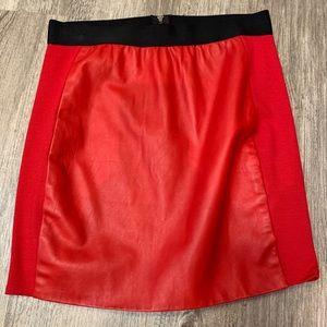 Mason red leather (lamb skin) mini skirt 🔥